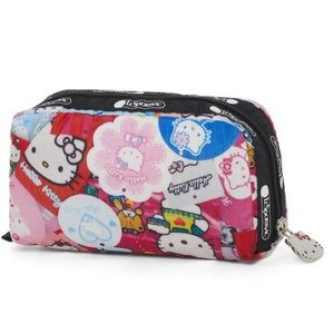 Hello kitty x lesportsac rectangle cosmetic bag